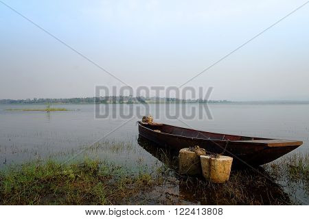 Boat on the river in Thailand Name
