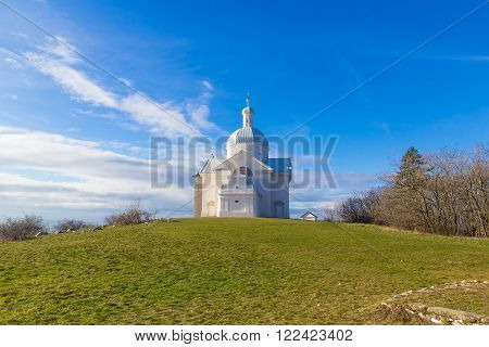 Tanzberg Hill, Svaty Kopecek, early winter, blue sky, Mikulov, Southern Moravia, Czech Republic