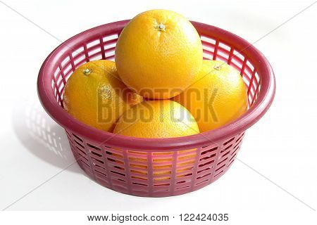 Close Up Navel Orages in a Basket