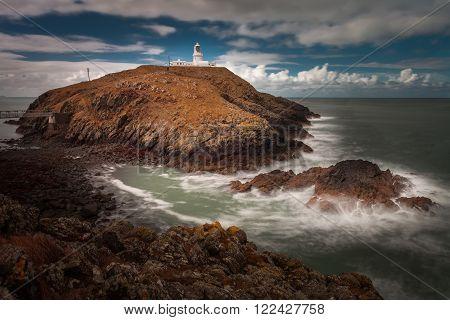 Strumble Head Lighthouse Strumble Head, five miles west of Fishguard, Pembrokeshire, Wales.