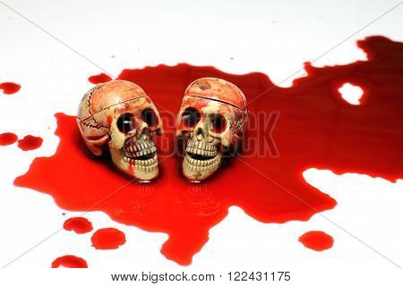 Skull And Blood