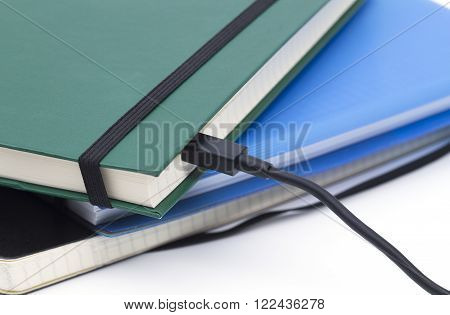 The photo shows a concept photography for digital books