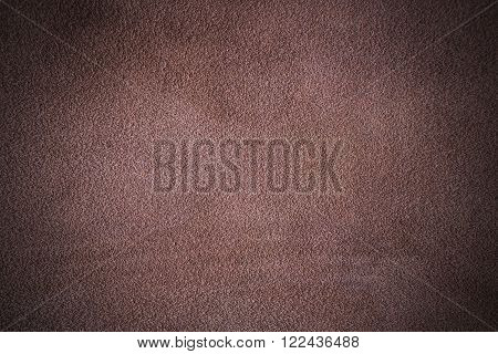Brown nubuck leather texture with scratch design
