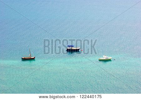 The ships in the waters of the Adriatic Sea