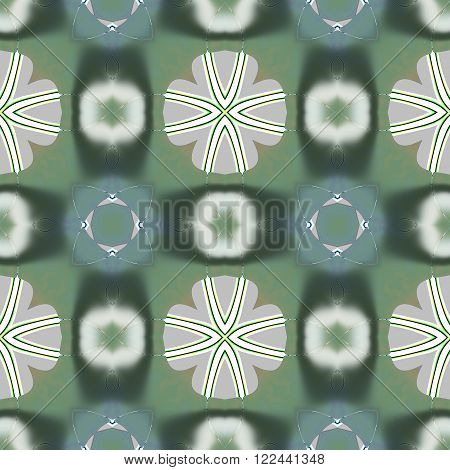 Abstract historical bright fractal floral lacy seamless pattern