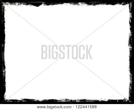 grunge frame with half tone background in black