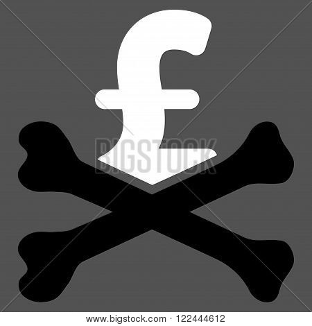 Mortal Pound Debt vector icon. Mortal Pound Debt icon symbol. Mortal Pound Debt icon image. Mortal Pound Debt icon picture. Mortal Pound Debt pictogram. Flat mortal pound debt icon.