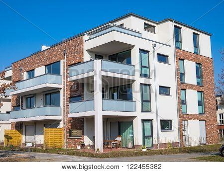 New block of flats seen in Berlin, Germany