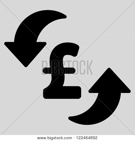 Update Pound Cost vector icon. Update Pound Cost icon symbol. Update Pound Cost icon image. Update Pound Cost icon picture. Update Pound Cost pictogram. Flat update pound cost icon.