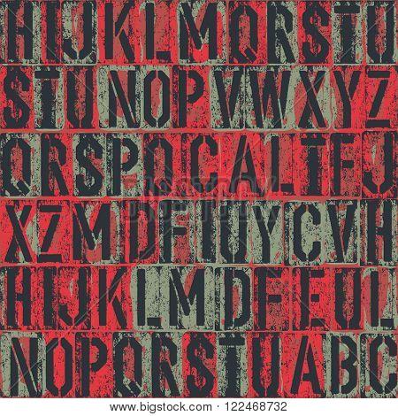 letterpress seamless pattern. Raster version