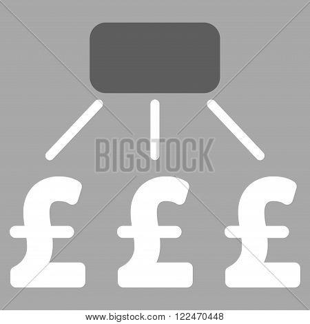 Pound Financial Scheme vector icon. Pound Financial Scheme icon symbol. Pound Financial Scheme icon image. Pound Financial Scheme icon picture. Pound Financial Scheme pictogram.
