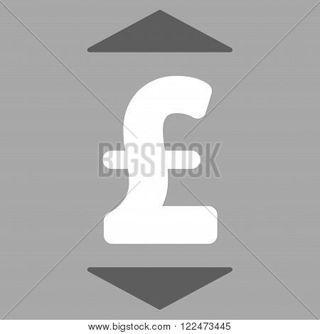 Pound Up Down vector icon. Pound Up Down icon symbol. Pound Up Down icon image. Pound Up Down icon picture. Pound Up Down pictogram. Flat pound up down icon. Isolated pound up down icon graphic.