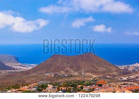 Beach Los Cristianos in Tenerife island - Canary Spain