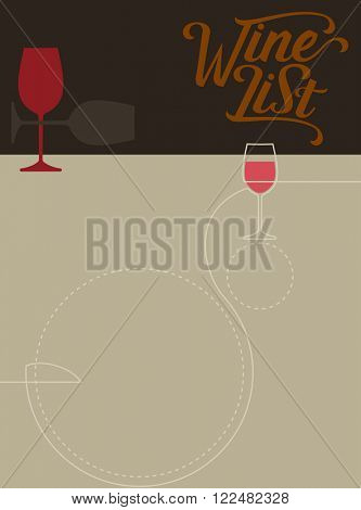 Wine List Menu Card Design Template