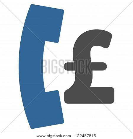 Pound Pay Phone vector icon. Pound Pay Phone icon symbol. Pound Pay Phone icon image. Pound Pay Phone icon picture. Pound Pay Phone pictogram. Flat pound pay phone icon.