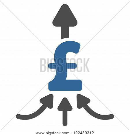 Unite Pound Payments vector icon. Unite Pound Payments icon symbol. Unite Pound Payments icon image. Unite Pound Payments icon picture. Unite Pound Payments pictogram. Flat unite pound payments icon.