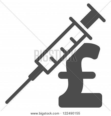 Drug Pound Business vector icon. Drug Pound Business icon symbol. Drug Pound Business icon image. Drug Pound Business icon picture. Drug Pound Business pictogram. Flat drug pound business icon.