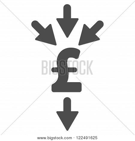 Pound Combine Payments vector icon. Pound Combine Payments icon symbol. Pound Combine Payments icon image. Pound Combine Payments icon picture. Pound Combine Payments pictogram.