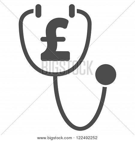 Pound Health vector icon. Pound Health icon symbol. Pound Health icon image. Pound Health icon picture. Pound Health pictogram. Flat pound health icon. Isolated pound health icon graphic.