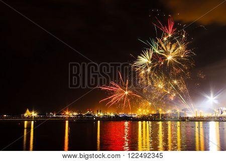 Fireworks Show In A Celebration