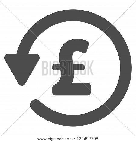Pound Rebate vector icon. Pound Rebate icon symbol. Pound Rebate icon image.