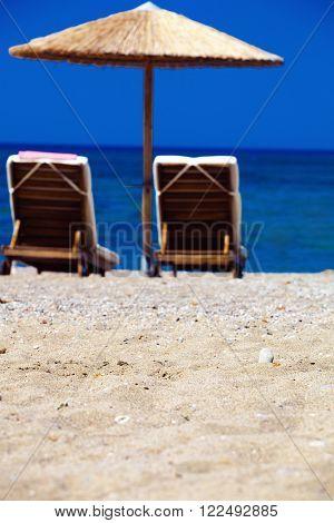 Summertime at the sea. beach. Greece. Rhodes.