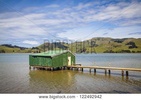 Fisher hut near Dunedin Otago New Zealand