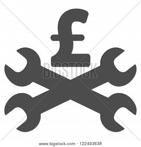 Service Pound Price vector icon. Service Pound Price icon symbol. Service Pound Price icon image. Service Pound Price icon picture. Service Pound Price pictogram. Flat service pound price icon.