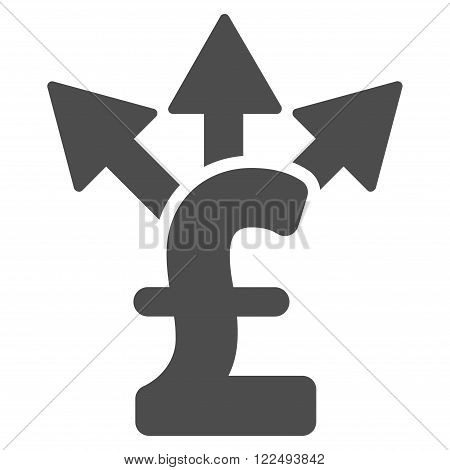 Split Pound Payment vector icon. Split Pound Payment icon symbol. Split Pound Payment icon image. Split Pound Payment icon picture. Split Pound Payment pictogram. Flat split pound payment icon.