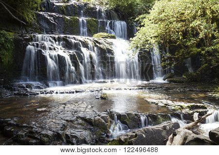 Purakanui waterfall Catlins New Zealand South Island