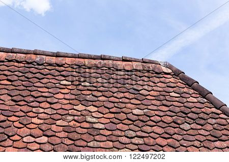 poster of old roof shingles texture for a background