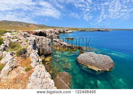 Beautiful landscape of Kefalonia island in Greece