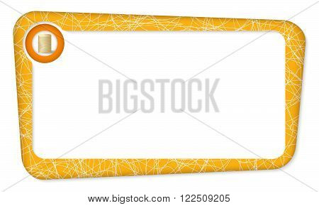 Abstract box for your text with golden coin