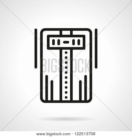 Air ionizer black line vector icon