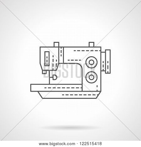 Stitching machine flat thin line vector icon