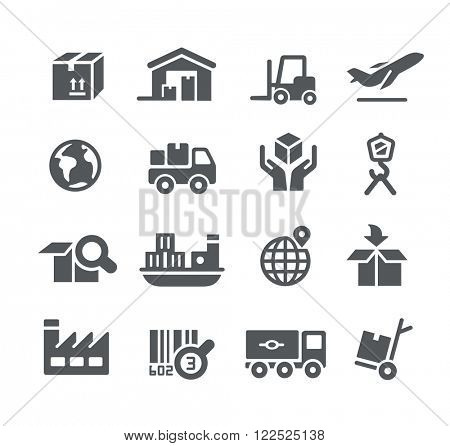 Industry and Logistics icons // Utility Series