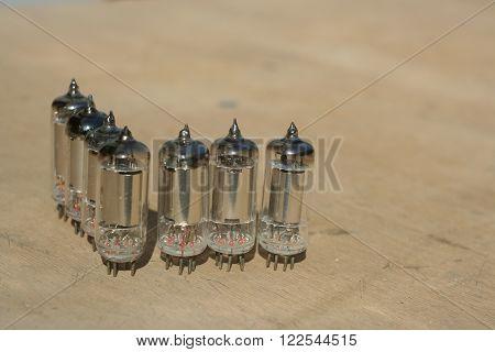 Radio Lamp Amplifier. Electronic Vacuum Tube.