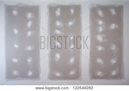 gypsum board ceiling of house at construction site poster