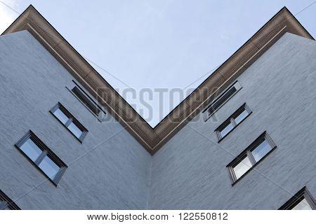 Office building in town center, Stockholm, Sweden.