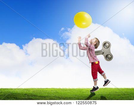 Hyperactive happy child