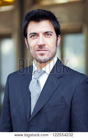 Handsome businessman portrait