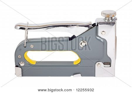 Staple Gun With Yellow Grip