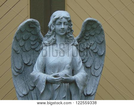 Angel statue at Winchester Mystery House Gardens in San Jose, CA.