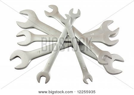 Bunch Of Wrenches Or Spanners