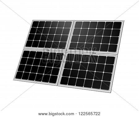 Single Solar Panel Isolated on White Background 3D Illustration