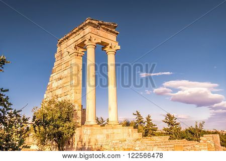 Temple of Apollo Hylates popular tourist attraction. Limassol District Cyprus