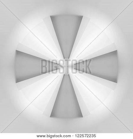 Abstract White Propulsion Background Pattern