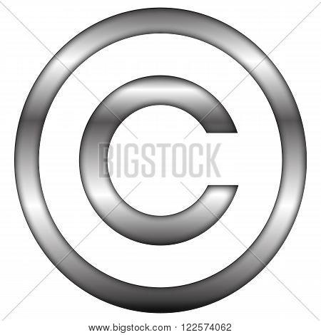 an illustrative representation of a copyright symboles