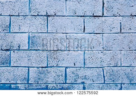 Background Texture Of A Old Blue Brick Wall