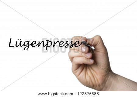 Lugenpresse Written By A Hand